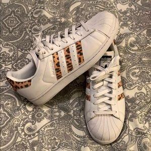 Adidas Originals Superstar leopard print sneakers